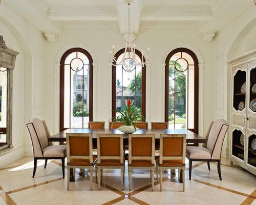 Large mediterranean dining room design ideas remodels for Large dining room ideas