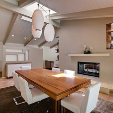 Midcentury Dining Room by Lauren Shadid Architecture and Interiors