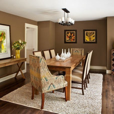 Transitional Dining Room by Brock Designs