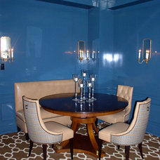 Eclectic Dining Room by Kim Weiss Design Inc