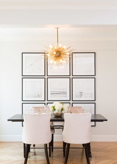 Transitional Dining Room by Wolf & Wing Interior Design