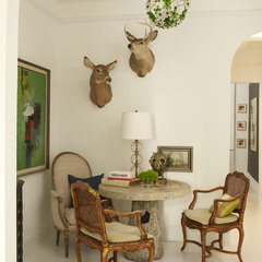 eclectic dining room by Andrew Flesher Interiors