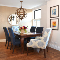 Transitional Dining Room by Dalliance Design LLC