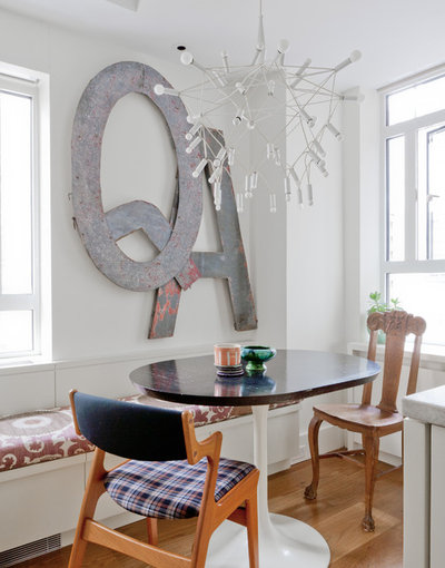 Eclectic Dining Room by Wettling Architects