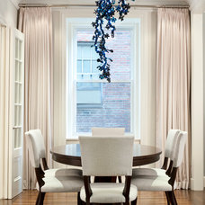 Transitional Dining Room by Weil Friedman Architects
