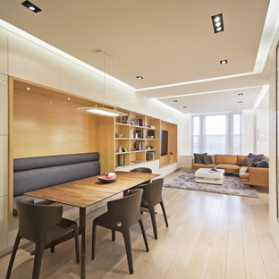 Great room - modern great room idea in New York