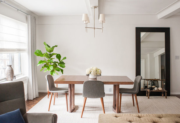 Midcentury Dining Room by Idea Space Architecture + Design