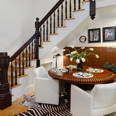 Transitional Dining Room by Hudson Place Realty