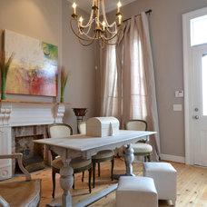 Transitional Dining Room by vanDeventer Design