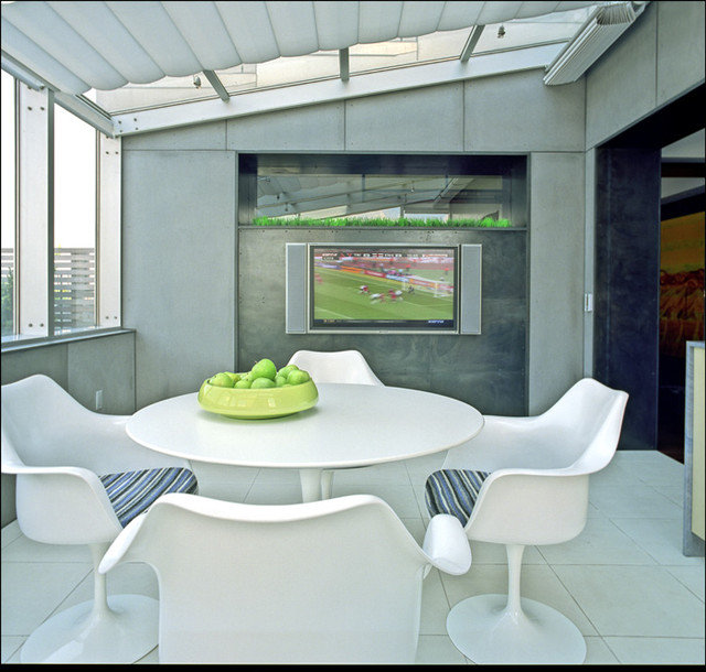 Contemporary Family Room by Studio ST Architects, P.C.
