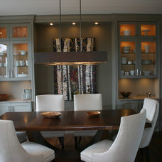 Transitional Dining Room by Susan Orfald
