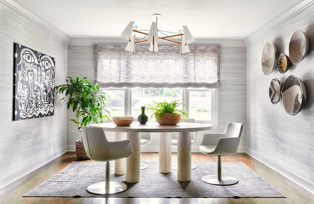 Eclectic Dining Room by d2 interieurs