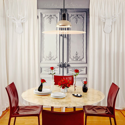 Eclectic Dining Room by Ginevra Held Interior Design