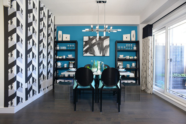 Contemporary Dining Room by Multi-Area Developments Inc.