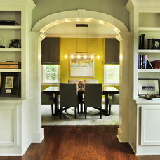 Transitional Dining Room by Beckwith Interiors