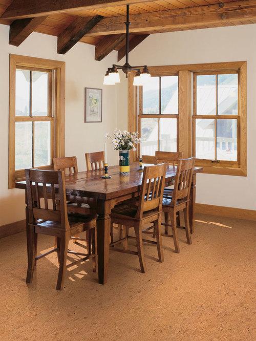 rustikale wohnk chen mit korkboden ideen design bilder houzz. Black Bedroom Furniture Sets. Home Design Ideas