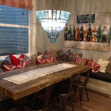 Farmhouse Dining Room by Titan Homes