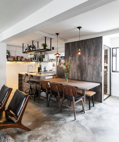 Industrial Dining Room by The Design Abode