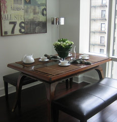 contemporary dining room by Lea Frank Design
