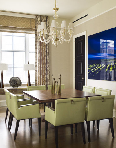 Contemporary Dining Room by Mendelson Group
