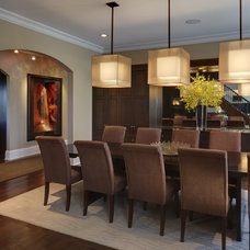 Modern Dining Room by V. Murray Designs