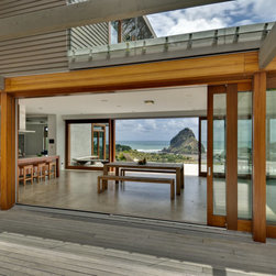 "Vacation home in Mexico - Panda Windows & Doors - This featured project truly represents the WOW factor that Panda customers have come to expect. Every aspect of this home relies on the large openings provided by Panda's custom wood doors and windows. With views like these, the homeowner did not want to miss a thing, so Panda provided ""a view that, until now, had only been imagined""."