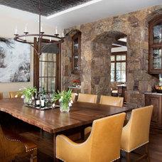 Rustic Dining Room by Slifer Designs