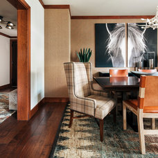 Transitional Dining Room by Duet Design Group