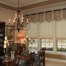 Traditional Dining Room by Custom Drapery Designs, LLC.