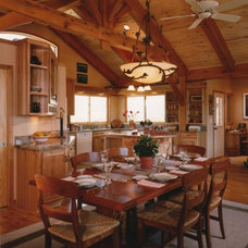 Traditional Dining Room by Mountain Timber Design, Inc.