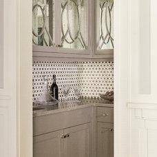 Transitional Dining Room by Jill Litner Kaplan Interiors