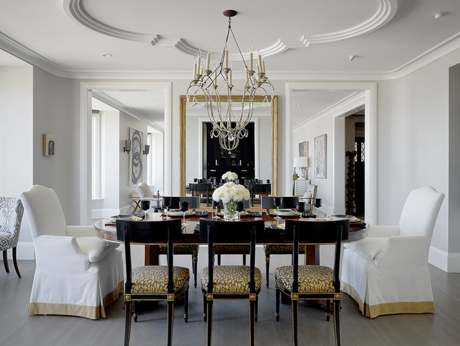 Traditional Dining Room by Design Line Construction, Inc.