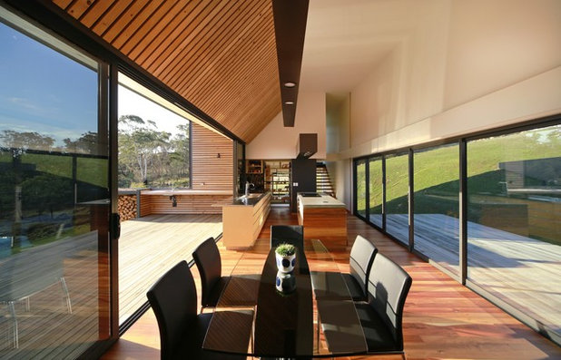 Contemporary Dining Room by Architectural Window Systems