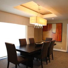 Contemporary Dining Room by Allison Knizek Design for Prescott Properties