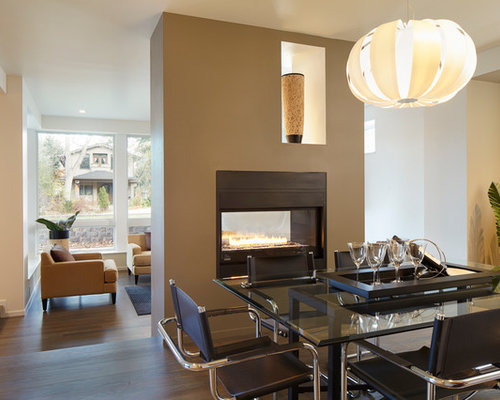 Dining room design ideas renovations photos with a two for 3 sided dining room table