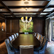 Transitional Dining Room by Teragon Developments & Construction Inc.