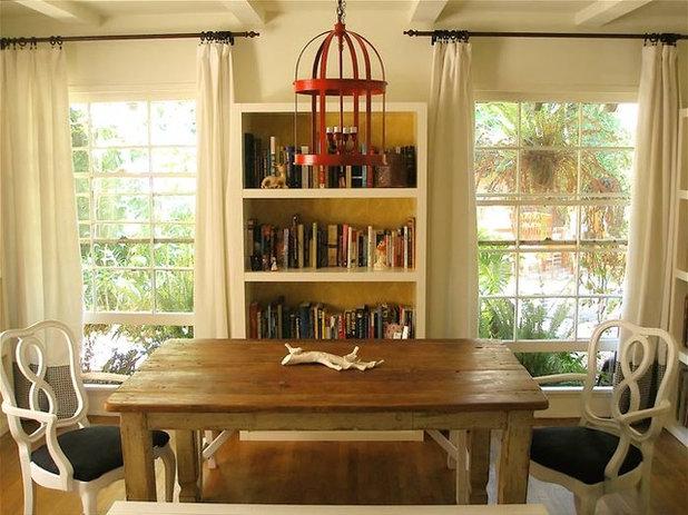 Fancy Eclectic Dining Room by Vanessa De Vargas