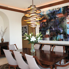 Contemporary Dining Room by J. Fox Interiors