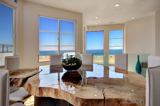 Contemporary Dining Room by Amato Design Inc.