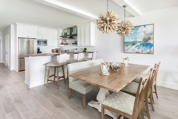 Beach Style Dining Room by Pure Design Works, LLC