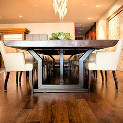 modern dining tables by Kim Wood Designs