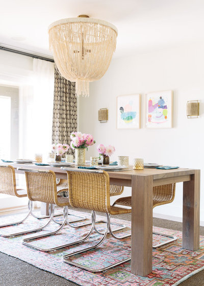 Transitional Dining Room by Caitlin Moran Interiors