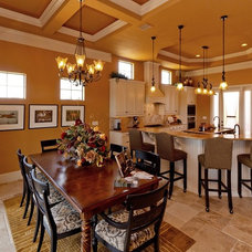 Mediterranean Dining Room by MJS Inc. Custom Home Designs