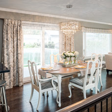 Transitional Dining Room by Leanne McKeachie Design