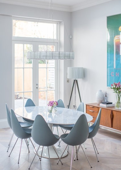 Contemporary Dining Room by Laura Butler-Madden