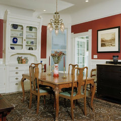 traditional dining room by Podesta Construction