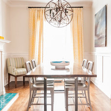 Transitional Dining Room by Fia Interiors