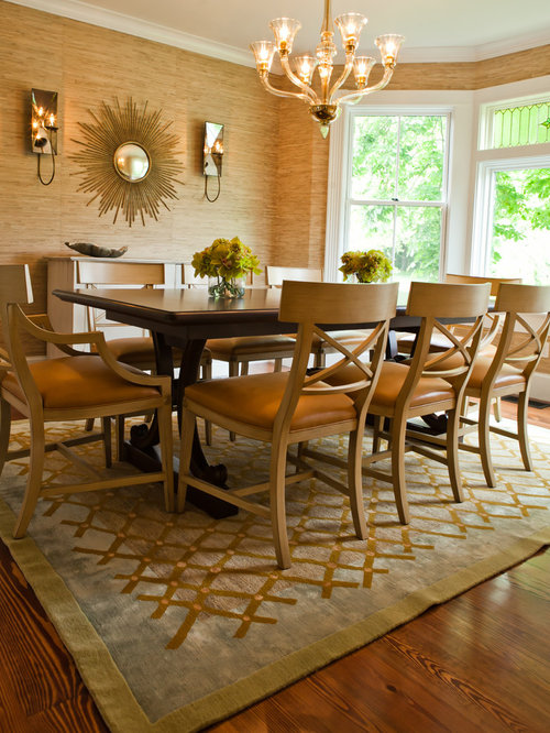 Champagne gold dining room design ideas renovations photos for Dining room decorating ideas gold