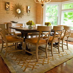 contemporary dining room by Taste Design Inc