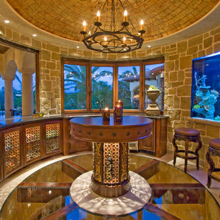 Inspiration for a mediterranean dining room remodel in Los Angeles